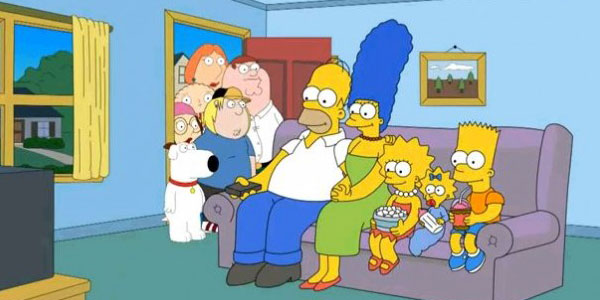 The simpsons family guy crossover the simpsons guy tv unfiltered