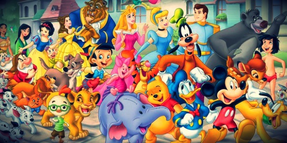 Disney characters poster