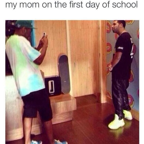 Drake first day of school meme